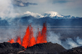 Volcano Eruption at the Holuhraun Fissure Near Bardarbunga Volcano, Iceland Photographic Print by Green Light Collection