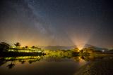 The Milky Way Above Praia Itamambuca in Ubatuba, Brazil Impressão fotográfica por Alex Saberi