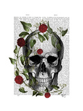 Skull Vines and Flowers Poster von  Fab Funky