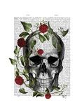 Skull Vines and Flowers Lámina giclée prémium por  Fab Funky