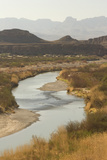The Rio Grande River, with Mexico on the Left and the United States on the Right Photographic Print by Phil Schermeister