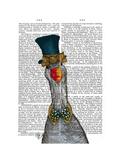 Goose in Blue Hat Giclée-Premiumdruck von  Fab Funky