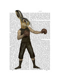 Boxing Hare Print by  Fab Funky