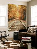 Autumn Railroad, New Engalnd Fall Foilage Seinämaalaus tekijänä Vincent James