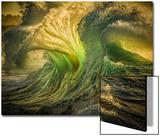 Wave Photo at Papohaku Beach, West End, Molokai, Hawaii Kunstdrucke von Richard A Cooke III