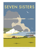 Seven Sisters - Dave Thompson Contemporary Travel Print Posters by Dave Thompson