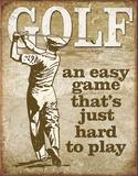 Golf - Easy Game Plaque en métal
