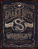 Snake Bit Whiskey Plaque en métal