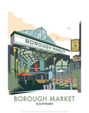 Borough Market - Dave Thompson Contemporary Travel Print Kunstdrucke von Dave Thompson