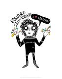 Edward Stickerhands - Katie Abey Cartoon Print Pósters por Katie Abey