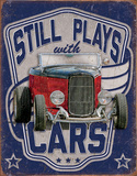 Still Plays With Cars Metalen bord