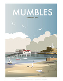 Mumbles - Dave Thompson Contemporary Travel Print Art by Dave Thompson