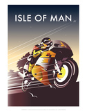 TT Racer - Dave Thompson Contemporary Travel Print Prints by Dave Thompson