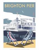 Brighton Pier - Dave Thompson Contemporary Travel Print Affiches par Dave Thompson