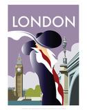 London - Dave Thompson Contemporary Travel Print Plakat af Dave Thompson