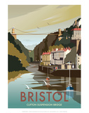 Bristol - Dave Thompson Contemporary Travel Print Prints by Dave Thompson