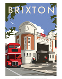Brixton - Dave Thompson Contemporary Travel Print Prints by Dave Thompson