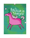 Believe in Yourself - Katie Abey Cartoon Print Stampe di Katie Abey