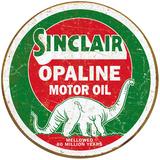 Sinclair Opaline Round Blikskilt