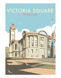 Victoria Square, Birmingham - Dave Thompson Contemporary Travel Print Print by Dave Thompson