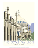 Rotal Pavilion, Brighton - Dave Thompson Contemporary Travel Print Posters by Dave Thompson