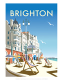 Brighton - Dave Thompson Contemporary Travel Print Prints by Dave Thompson