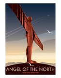 Angel of the North - Dave Thompson Contemporary Travel Print Prints by Dave Thompson