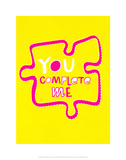 You Complete Me Puzzle - Tommy Human Cartoon Print Prints by Tommy Human