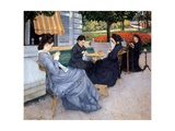 Ladies Sewing, 1848 Poster by Gustave Caillebotte