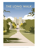 The Long Walk - Windsor Castle - Dave Thompson Contemporary Travel Print Pósters por Dave Thompson