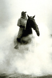 Soldier and Horse Wearing a Gas Mask During the Battle of Verdun, 1916 Foto