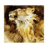 Roaring Lion, C.1833-35 Posters af Eugene Delacroix