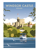 Windsor Castle - England - Dave Thompson Contemporary Travel Print Print by Dave Thompson