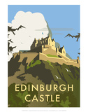 Edinburgh Castle - Dave Thompson Contemporary Travel Print Posters by Dave Thompson