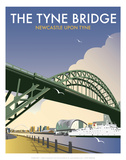 Tyne Bridge - Dave Thompson Contemporary Travel Print Prints by Dave Thompson