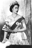 Queen Elizabeth II of England (Daughter of Georgevi) Here in 1952 Foto