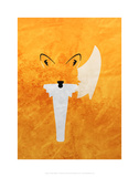 Fox - Jethro Wilson Contemporary Wildlife Print Julisteet tekijänä Jethro Wilson