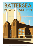 Battersea Power Station - Dave Thompson Contemporary Travel Print Prints by Dave Thompson