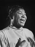Mahalia Jackson (1911-1972) American Singer of Gospel Et Negro Spirituals, C. 1960 Photographie