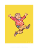 Jump - Alfie Illustrated Print Poster von Shirley Hughes