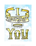 I Worship You - Tommy Human Cartoon Print Prints by Tommy Human