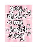 You Make My Heart Sing - Tommy Human Cartoon Print Prints by Tommy Human