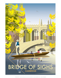 Bridge of Sighs, Cambridge - Dave Thompson Contemporary Travel Print Posters by Dave Thompson