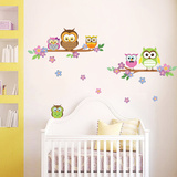 Owl Flower Tree Wall Decal