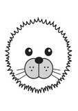 Seal - Animaru Cartoon Animal Print Stampa giclée di  Animaru
