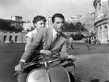 Vacances Romaines Roman Holiday De William Wyler Avec Gregory Peck Et Audrey Hepburn 1953 Photographie