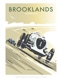Brooklands, Waybridge - Dave Thompson Contemporary Travel Print Print by Dave Thompson