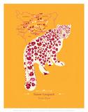 Snow Leopard - WWF Contemporary Animals and Wildlife Print Art by  WWF