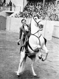 Conchita Cintron (1922-2009) Aka La Diosa Rubia, Peruvian Matador, Here in Madrid, 1962 Fotografía