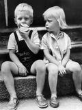 Child Eat an Apple August 25, 1960 Fotografia